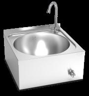 Lava-mãos de parede comando de joelho misturadora água fria e quente