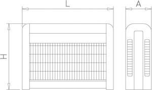 Tue mouches électrique inox à grille électrique 80 W. 240 m2