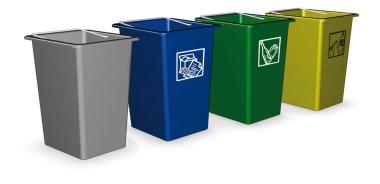 Poubelle de recyclage en couleurs