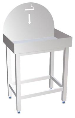 cendrier inox sur pied avec plateau pour sable table inox lave mains inox tag re inox. Black Bedroom Furniture Sets. Home Design Ideas
