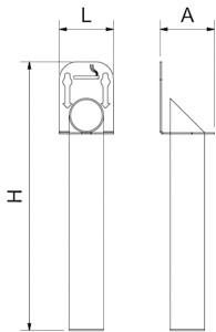 Standaschenbecher aus Edelstahl zur Wandmontage
