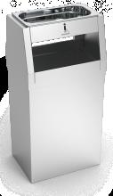 Cendrier inox avec poubelle