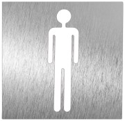 Stainless steel pictogram - Men restroom