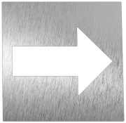 Stainless steel pictogram - Arrow