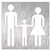 Stainless steel pictogram - Family toilet