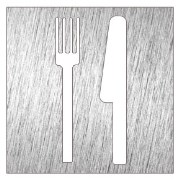 Stainless steel pictogram - Restaurant