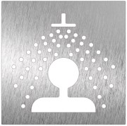Stainless steel pictogram - Shower