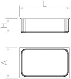 Bac gastro inox 1/1 (530x325 mm)