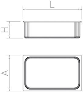 Bac gastro inox 1/9 (176x108 mm)