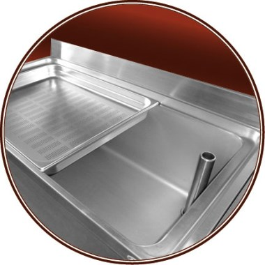 Bac gastro inox perforé 2/1 (650x530 mm)