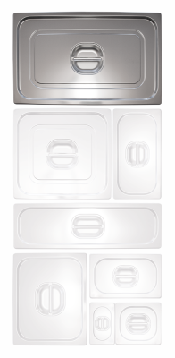 Couvercle inox pour bac gastronorme 1/1