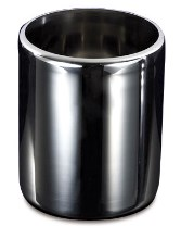 Stainless steel cylindrical ice cream container