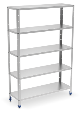 Stainless steel shelving 5 levels.