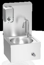 Lave-mains mural XS + dosseret + distributeur