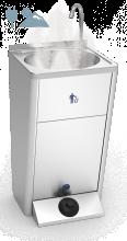 Lave mains autonome inox Eau Chaude 220 V (sites froids)