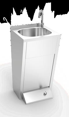 handwaschbecken aus edelstahl fussbedienung standmodell professioneller handwaschbecken aus. Black Bedroom Furniture Sets. Home Design Ideas