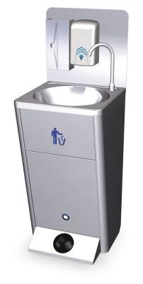 Lava-mãos com porta amovível portátil autónomo e portátil