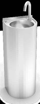 Lave mains inox sur pied à colonne électronique renforcé