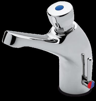 robinet temporis 2 eaux avec r glage de temperature table inox lave mains inox tag re inox. Black Bedroom Furniture Sets. Home Design Ideas