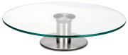 Revolving rotating glass 30 cm cake stand