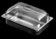 Polycarbonate convex lid for ice cream container