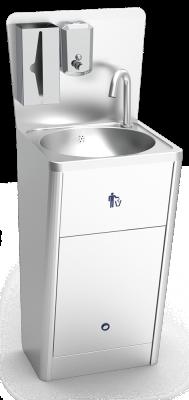 Automatisches, batteriebetriebenes Handwaschbecken aus Edelstahl, Standmodell