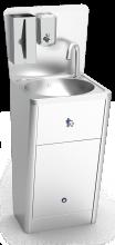 Lava-mãos integral com porta amovível eletrónico