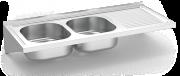 Lava-loiça suspenso c/consolas 2C,ED 1200x500x200 mm.