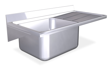 Stainless Steel Wall Mounted Sink Unit With Brackets 600