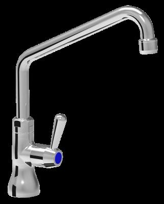 robinet tournant 1 4 tour une eau bec de robinet haut table inox lave mains inox tag re. Black Bedroom Furniture Sets. Home Design Ideas
