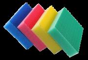 Set de 4 éponges de couleurs