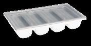 Deckel für Besteckkasten aus Plastik, Grau Gn 1/1