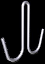 """Haken in """"J"""" Form doppelt ohne Spitze aus Edelstahl"""