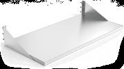 Table inox murale avec équerres