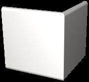 Stoßleiste Außenwinkel, Fasermaterial weiß