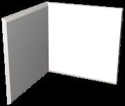 Stoßleiste Innenwinkel, Fasermaterial weiß