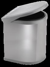 Poubelle de recyclage avec couvercle basculant