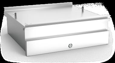 Schublade zur Tischmontage aus Edelstahl