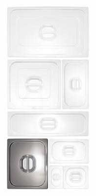 Gastronorm Behälter aus Edelstahl 1/2