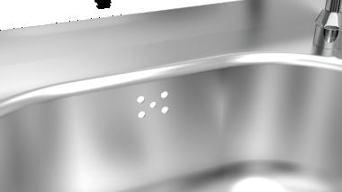 Lave mains inox sur pied, deux commandes, eau chaude et froide
