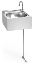 Handwaschbecken Edelsahl mit Fußpedal