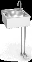 Handwaschbecken Edelsahl 2 Fußpedalen
