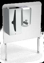Aufkantung zur Befestigung an Mobiles Handwaschbecken mit Seifenspender und Papierhandtuchspender