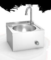 Handwaschbecken aus Edelstahl, zur Wandmontage XS