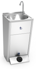 Mobile and autonomous stainless steel hand wash basin