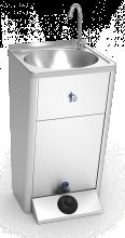 Mobiles Handwaschbecken aus Edelstahl