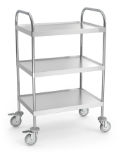 Multifunctional auxiliary table / trolley for equipment or service with wheels