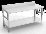 Table inox avec élévateur hydraulique