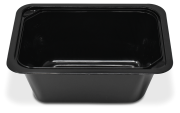 Conteneur rectangulaire à emporter ou de livraison avec couvercle