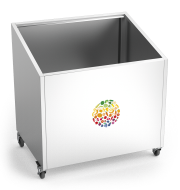 Expositor de frutas e verduras inox com rodas